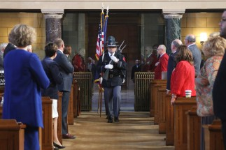 Members of the Nebraska State Patrol served as the honor guard.