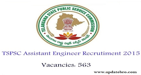 TSPSC Assistant Engineer Recruitment 2015