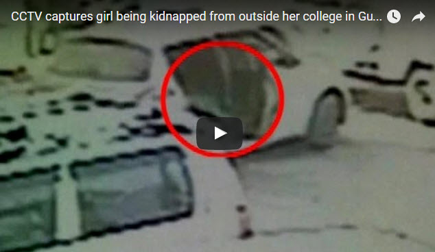 Gurgaon Girl Kidnapped Live Footage