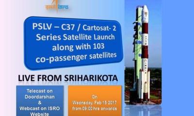 isro pslv c37 launch live-video
