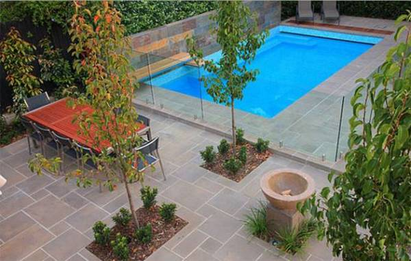 fashionable pool landscaping
