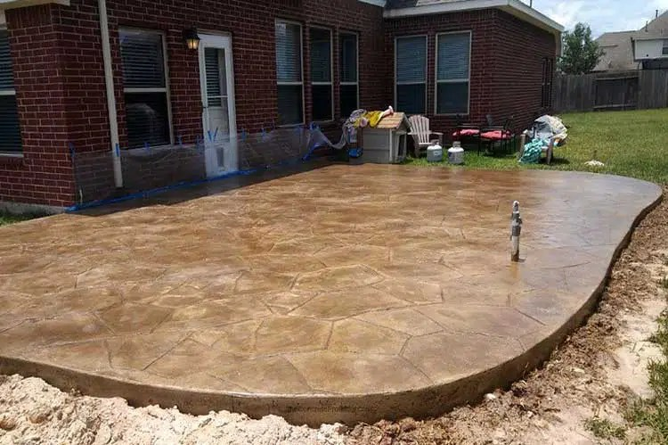 concrete patio ideas on a budget