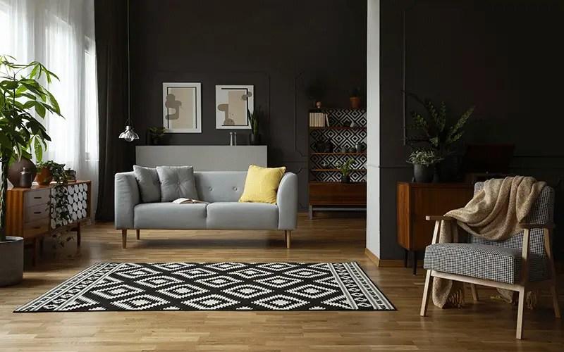 Dark Living Room in Summer