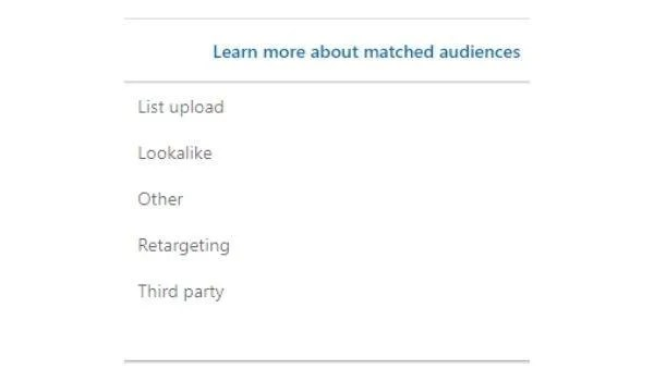 Matched Audience