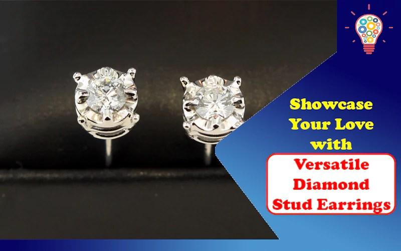 Versatile Diamond Stud Earrings 1