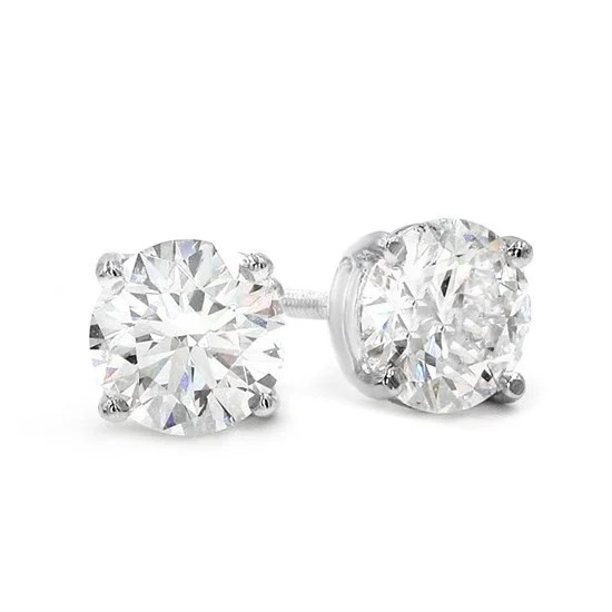 Versatile Diamond Stud Earrings