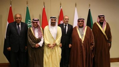Six Arab foreign ministers meet in Jordan 'to align policy