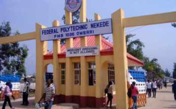 Federal Polytechnic Nekede HND and ND Admission Checker 2018/2019