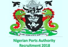 Nigerian Ports Authority Recruitment 2018
