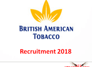 British American Tobacco Recruitment 2018