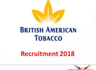 British American Tobacco Recruitment 2018