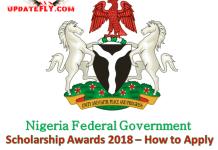 Nigeria Federal Government Scholarship Awards 2018