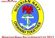 Nigerian Navy Recruitment List 2017