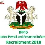ippis recruitment 2018