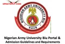 Nigerian Army University Biu Admission Update