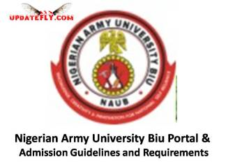 Nigerian Army University Biu Admission 2018/2019