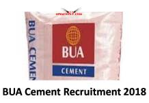 BUA Cement Recruitment 2018