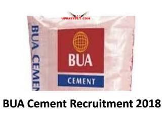 BUA Cement Recruitment 2018