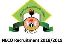 NECO Recruitment Portal