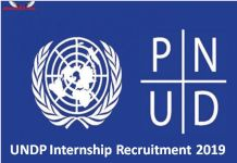 UNDP Internship Recruitment 2019