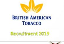 British American Tobacco Recruitment 2019
