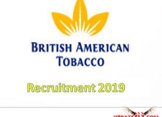 British American Tobacco Recruitment 2019
