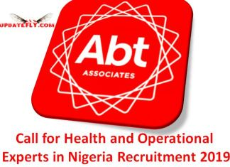 Health and Operational Experts in Nigeria Recruitment 2019