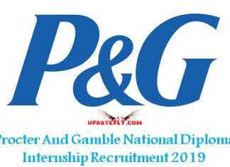 P&G Plant Technician Internship Recruitment 2019