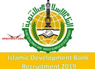Islamic Development Bank Recruitment 2019