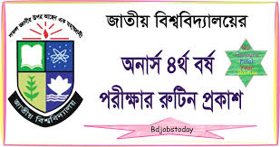 National University Honours 4th Year Viva Voce Schedule