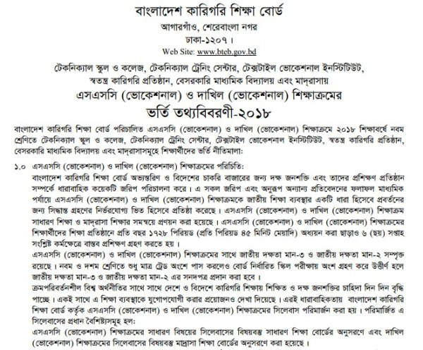 SSC Vocational & Dakhil Admission