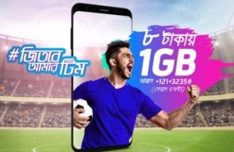 GP 1GB 8Tk Internet Offer