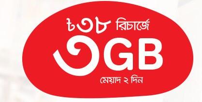 Airtel 3GB 38Tk