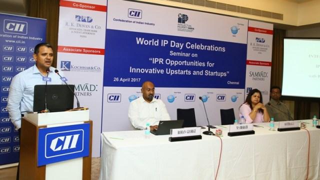 ms bharath msb cii world ip day chennai ipr startups