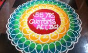 rangoli for updates mumbai customs 55 years of act 1962 celebration
