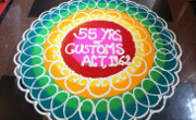 rangoli for updates mumbai customs 55 years of act 1962 celebration