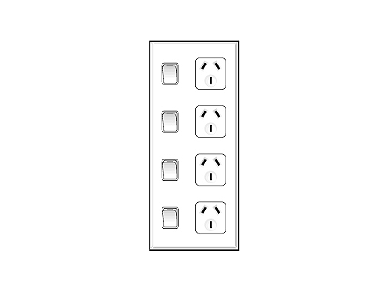 Quad Electrical Outlet Box, Quad, Free Engine Image For