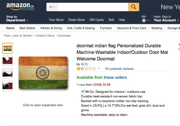 Sushma Swaraj Asks Amazon To Apologize For Selling Indian Flag Printed Doormat  sc 1 st  Updates Junction & Sushma Swaraj Asks Amazon To Apologize For Selling Indian Flag ...