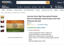 Amazon-Canada-Indian-Flag-Doormat-Sushma-Swaraj