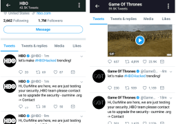 HBO and Game of Thrones Twitter accounts hacked