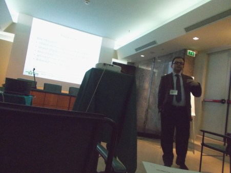 Dr.Nicola Murgia and lecture 'Tests of bronchial hyperreactivity'