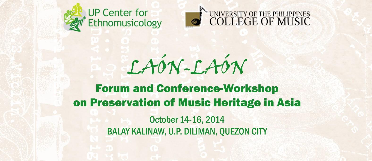 Laón-Laón 2014: Forum and Conference-Workshop on