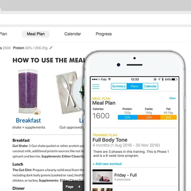 mobile nutrition app
