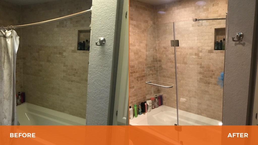 Glass Shower Piece
