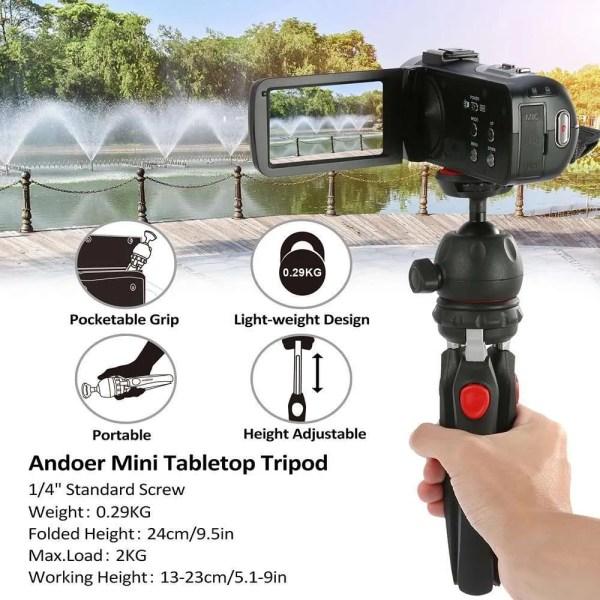 Mini Tabletop Phone Portable Foldable Tripod 5