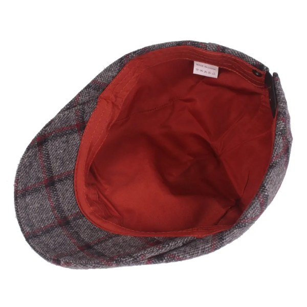 Spring Autumn Hats For Men in Casual Plaid Cotton 5
