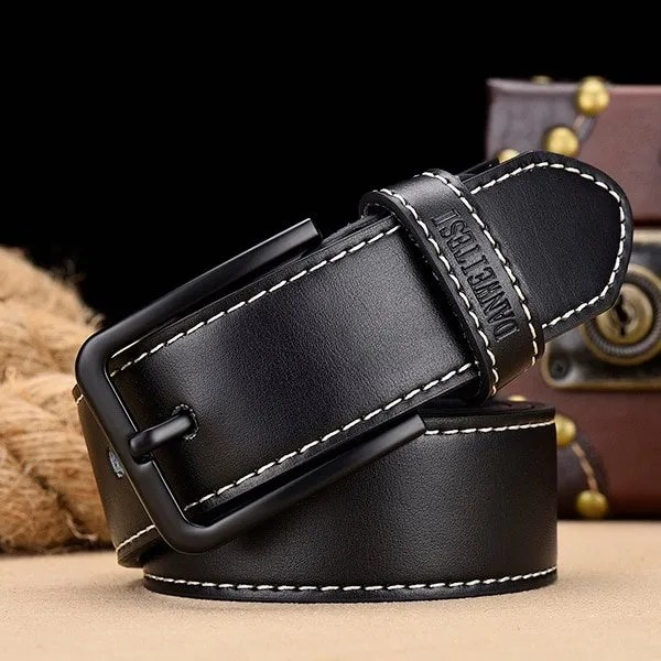Men's Genuine Leather Belt with Luxury Pin Buckle 8