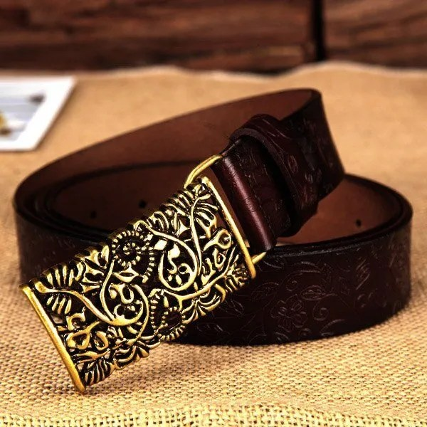 Hand Woven Real Leather Women Casual Belt 11