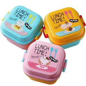Children Cartoon Style Healthy Plastic Microwave Lunch Box