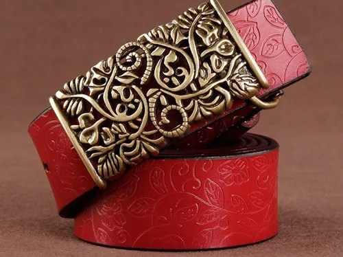 Women Fashion Luxury Genuine Top Quality Leather Belt 7